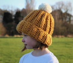 Kids Ribbed Hat