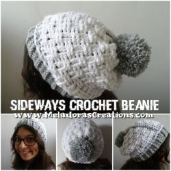 Sideways Beanie - Basketweave Stitch
