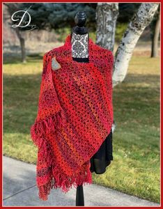 Sunset Garden Shawl