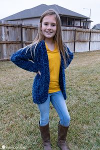 Velvet Cardi for Kids