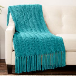 Vertical Herringbone Blanket