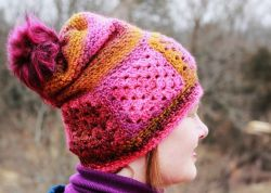 Ferris Wheel Boho Granny Square Hat