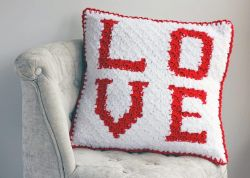 Love C2C Sherpa Pillow