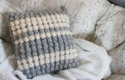 Striped Bobble Pillow