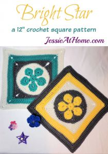 Bright Star Crochet Square