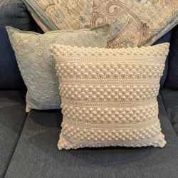 Farmhouse Bobble Striped Pillow