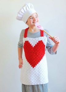 Heart C2C Child Apron