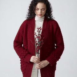 Winter Berries Cardigan