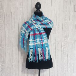 Crochet Plaid Scarf For Beginners – A Free Pattern & Video Tutorial