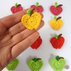 In Love with Apples Crochet Applique