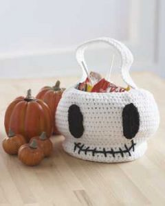 Skull Trick or Treat Bag