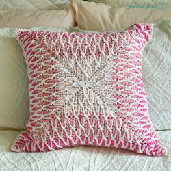 Brioche Stitch Ombre Pillow
