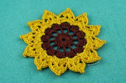 Easy Crochet Sunflower