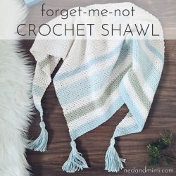Forget Me Not Shawl