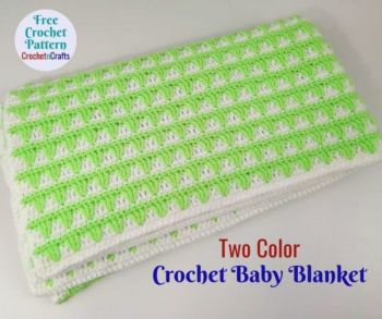 Two Color Baby Blanket