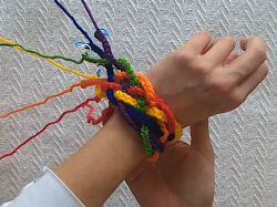 Rainbow Braid Bracelet