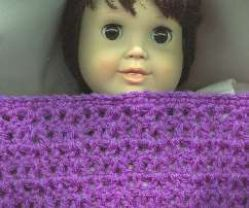 Crochet Patterns Galore Doll Blanket For 18 Doll