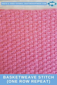 Basketweave Stitch (One Row Repeat) | Crafting Happiness
