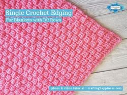 Single Crochet Border For Blankets With DC Rows | Crafting Happiness