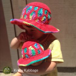 Rainbow Drops Sun Hat