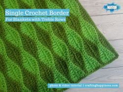 Single Crochet Border For Blankets With Treble Rows