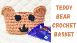 Teddy Bear Crochet Basket