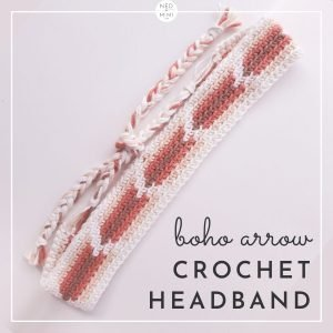 Boho Arrow Crochet Headband