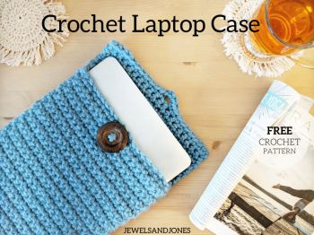 Easy Crochet Laptop Case