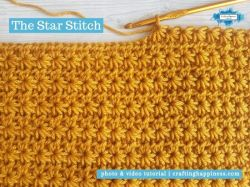 Crochet Star Stitch | Crafting Happiness