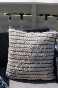 Waves and Stripes Pillow