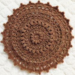 Round Textured Flower Tablemat