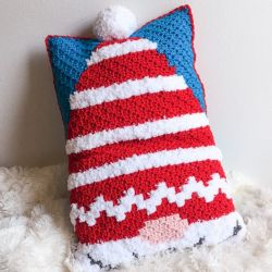 Christmas Gnome C2C Pillow