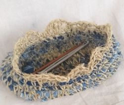 Sisal and Recycled Denim Basket