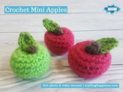 Crochet Mini Apples