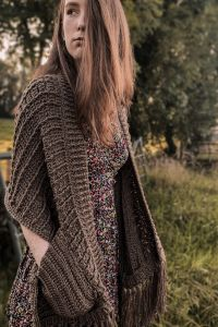 Crochet Shawl With Pockets