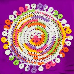 Cheerful Summer Crochet Doily With Circle Edging