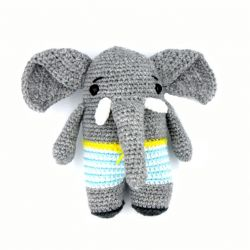 Elzo the Crochet Elephant