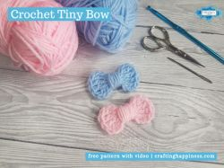 Crochet Tiny Bow | Crafting Happiness