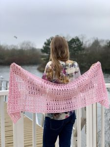 Puffs and Crosses Lace Shawl