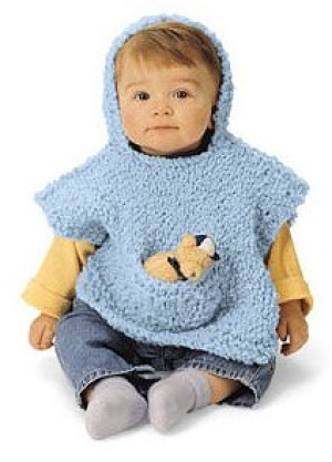 Crochet Patterns Galore - Hooded Baby Poncho