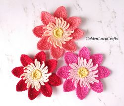 Dahlia Flower Applique