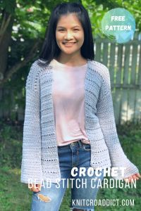 Crochet Bead Stitch Cardigan