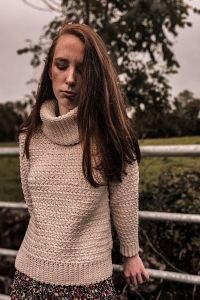 Crochet Cozy Turtleneck Sweater