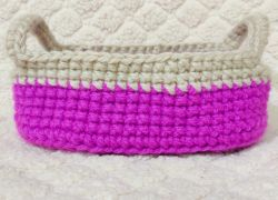 Make Your Own Crochet Oval Basket With Handles