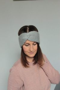 Misty Tunisian crochet ear warmer