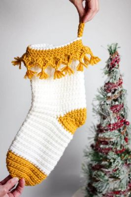 Luxe Boho Christmas Stocking