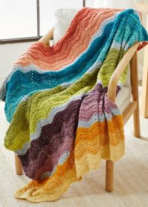 Colorful Chevron Throw