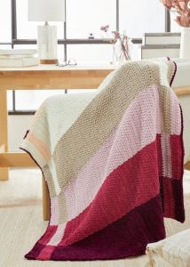 Intarsia Colorblock Blanket