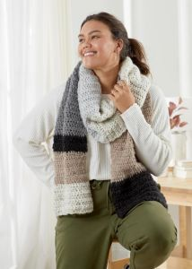 Neutral Colorblock Scarf