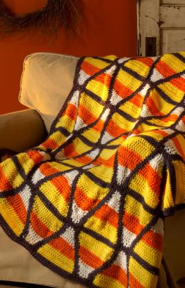 Crochet Patterns Galore Candy Corn Throw